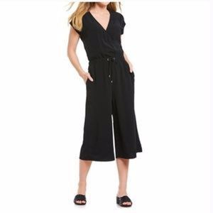 Eileen Fisher Black Wide Leg Jumpsuit Romper 2X